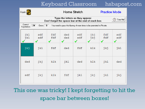 Home Stretch Practice Keyboard Classroom