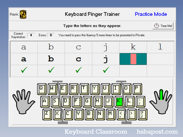 Keyboard Finger Trainer Practice