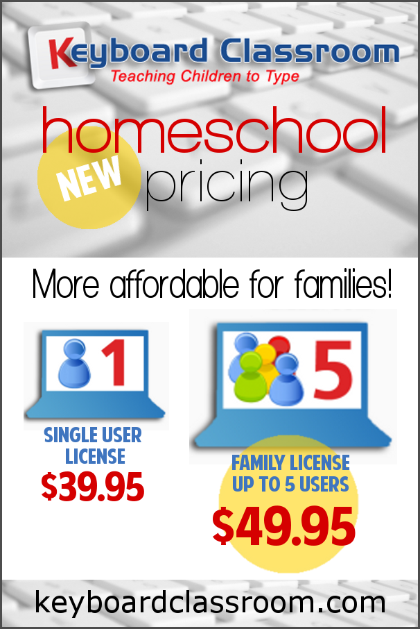 New Keyboard Classroom Homeschool Pricing for Families