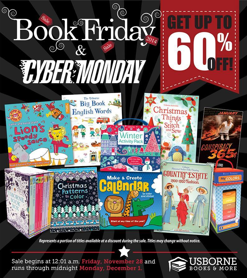Book Friday Black Friday to Cyber Monday Usborne Books sale www.kidsloveusbornebooks.com
