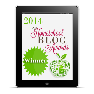 Homeschool Blog Awards winner #hsba2014 at hsbapost.com