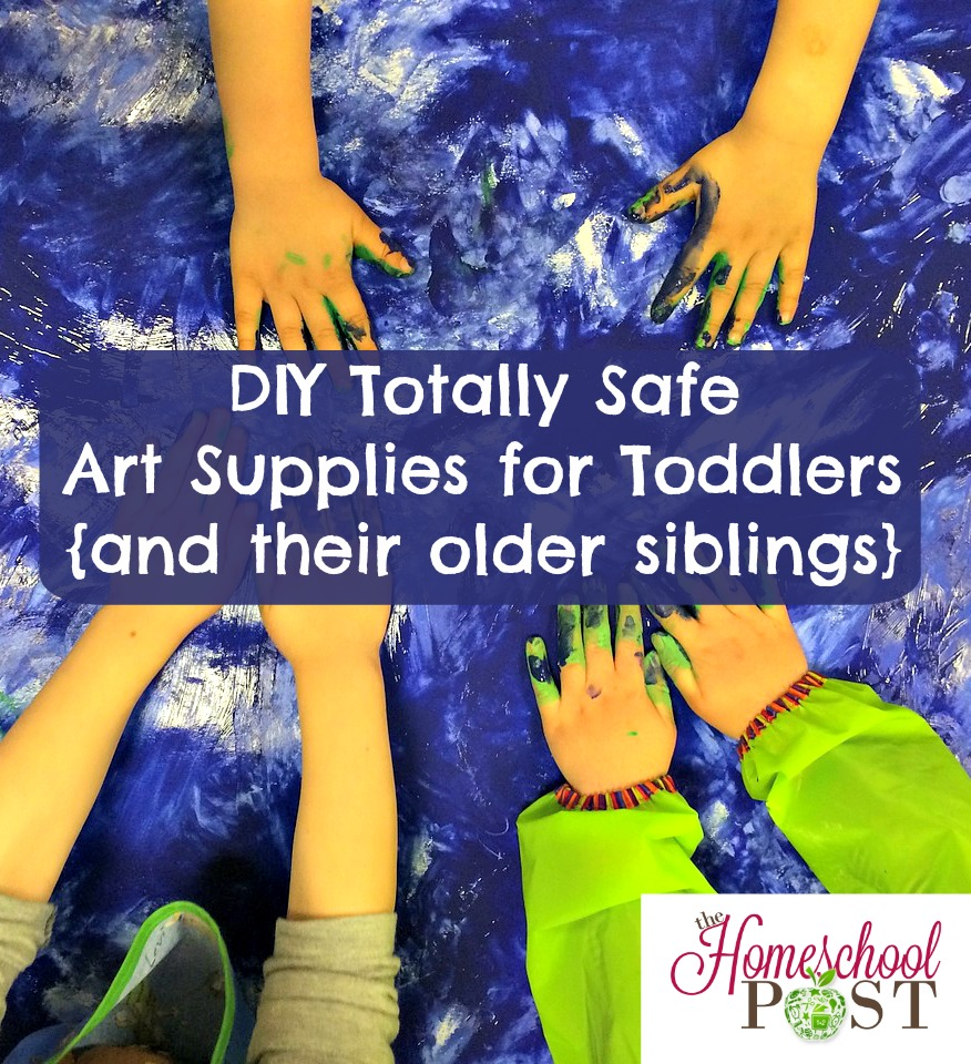 DIY Totally safe art supplies for toddlers: homemade play dough and finger paints