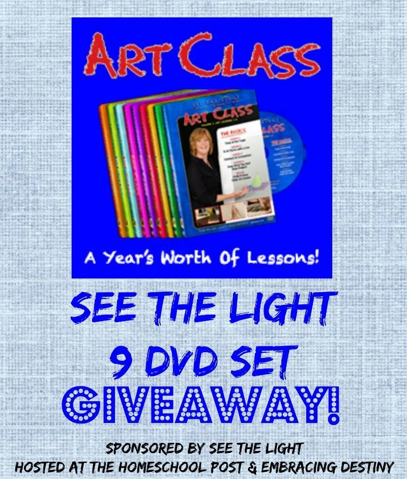 See the Light Art Class 9 DVD set giveaway: a full year's worth of art instruction! @hsbapost