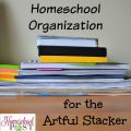 Homeschool Organization for the Artful Stacker