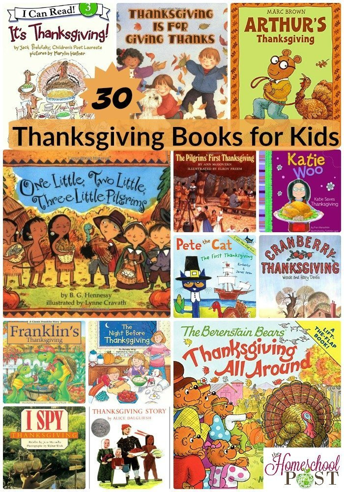30 Thanksgiving books for kids at hsbapost.com