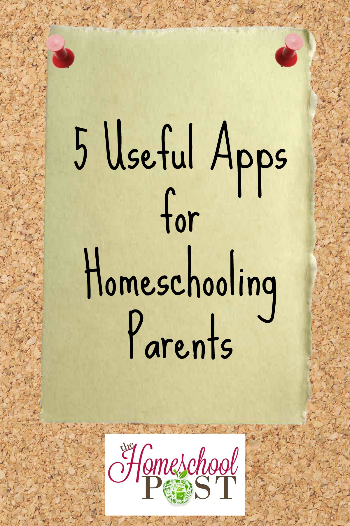 Description of 5 different apps that can help you organize your home and homeschool at hsbapost.com