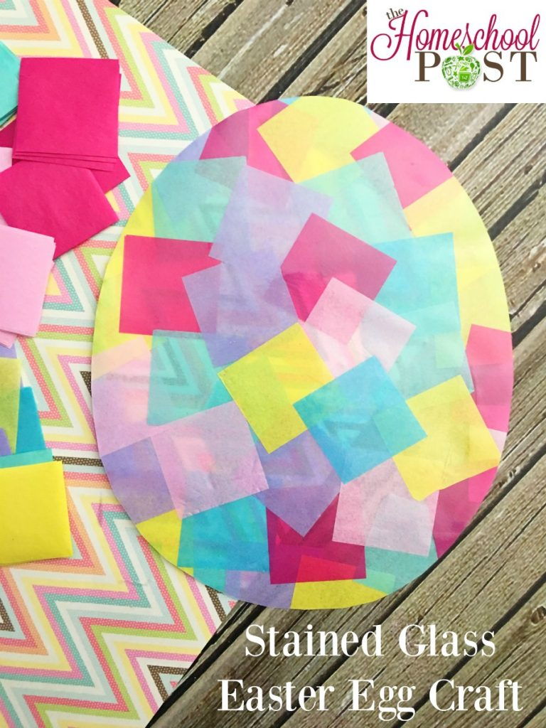 Stained glass Easter egg craft. If you need a quick and easy last-minute Easter craft, give this a try! hsbapost.com
