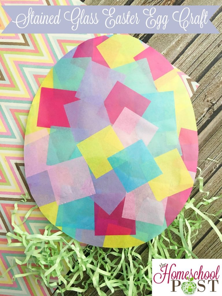 Make this pretty Stained Glass Easter Egg Craft with your kids today! hsbapost.com