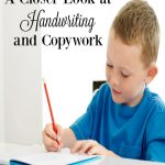 A Closer Look at Handwriting and Copywork in your homeschool with a comparison of resources available in the Build Your Bundle sale. hsbapost.com
