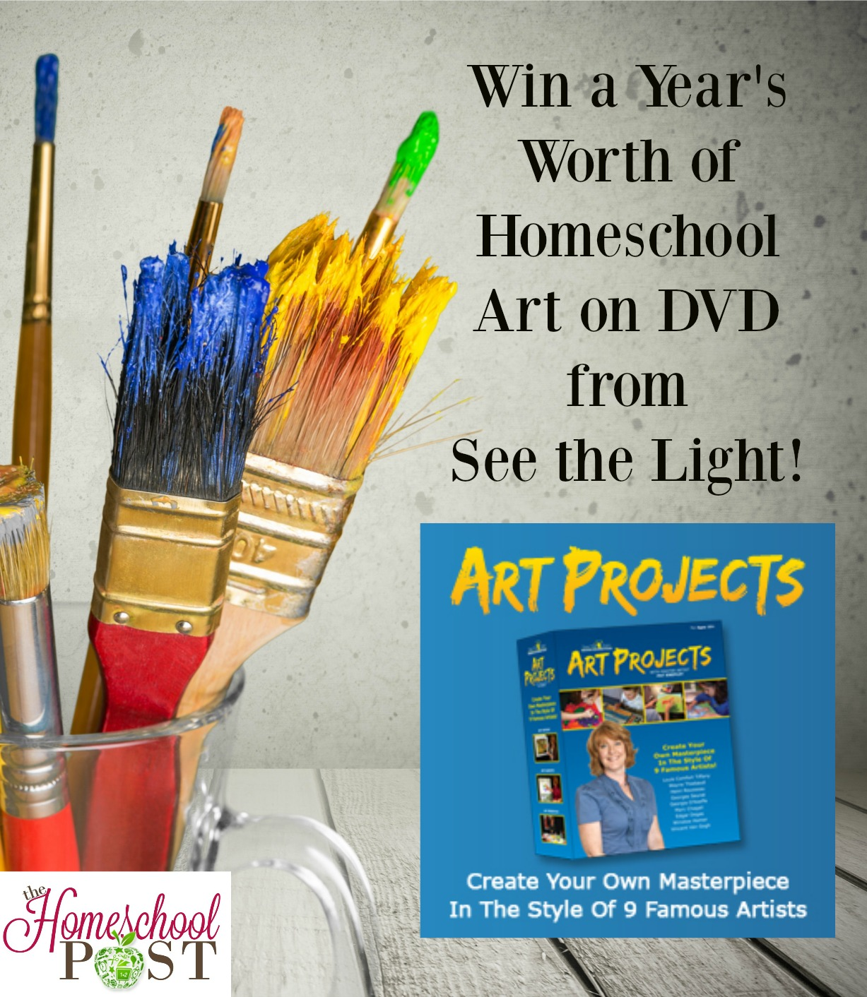 Enter for a chance to win the Art Projects DVD box set from See the Light. An entire year's worth of artist study and art lessons. hsbapost.com