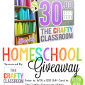 Win a $30 gift certificate to the Crafty Classroom online store at The Homeschool Post! hsbapost.com