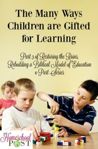 Each child has a unique learning style, designed by God. Read more about how it all works together in this series. hsbapost.com