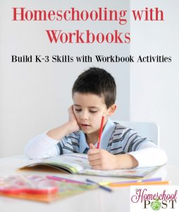 The benefits of homeschooling with workbooks. Save this reference list of elementary workbooks to build K-3 skills in math, reading, and more! hsbapost.com