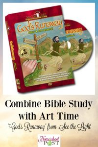 """Bible study + art = """"God's Runaway"""" story of Jonah with art lessons from See the Light"""