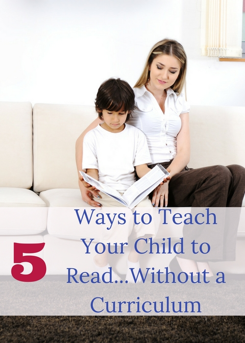 Ways to teach your child to read without a curriculum