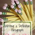 Writing a Definition Paragraph @hsbapost #homeschool