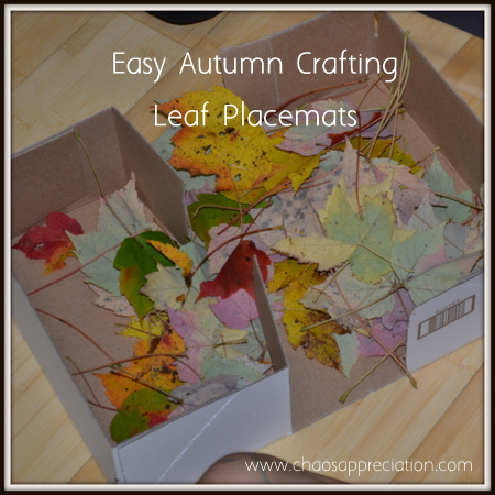 Easy Autumn Crafting Leaf Place Mats