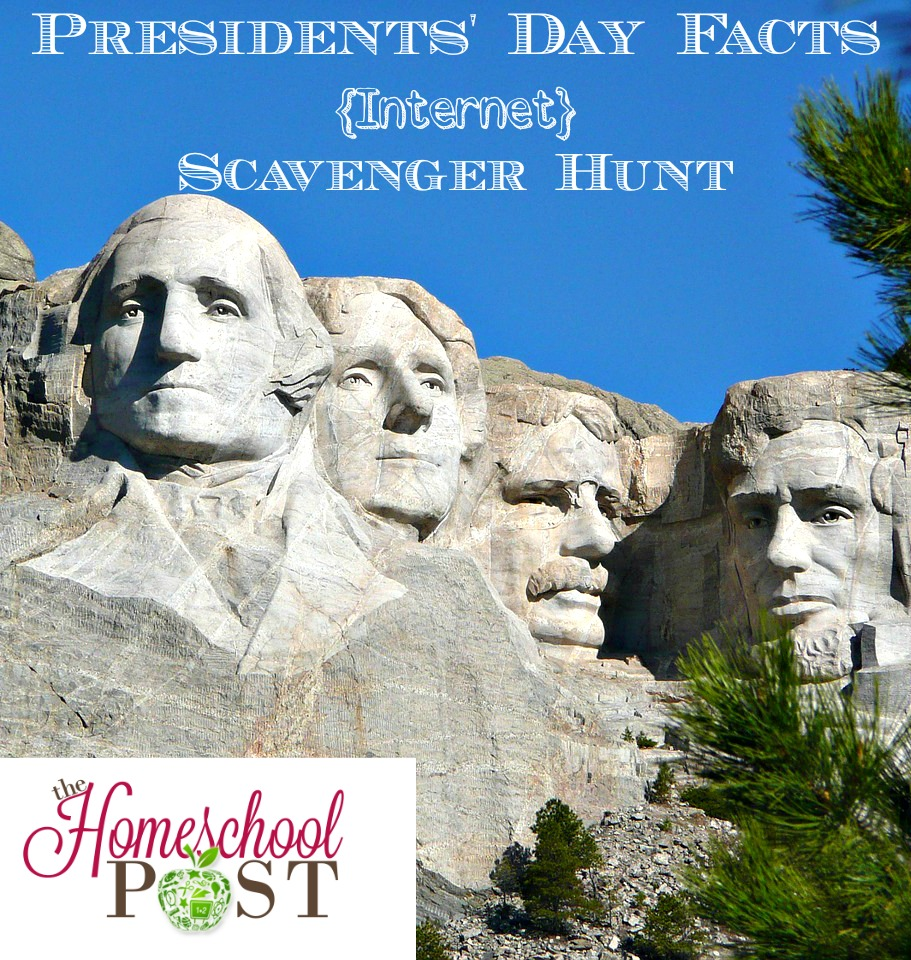 Presidents' Day Facts Internet Scavenger Hunt @hsbapost