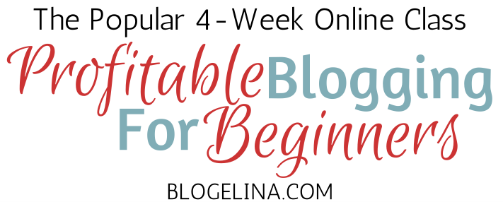 Blogelina Profitable Blogging for Beginners @hsbapost
