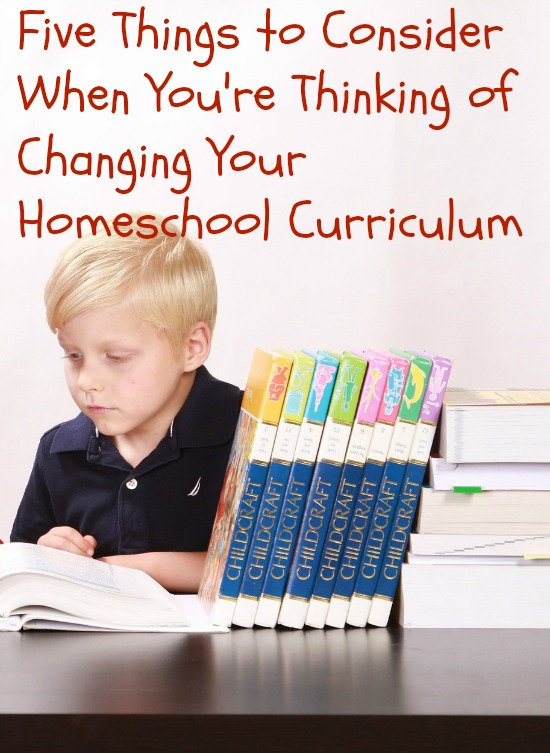 making changes in homeschool curriculum