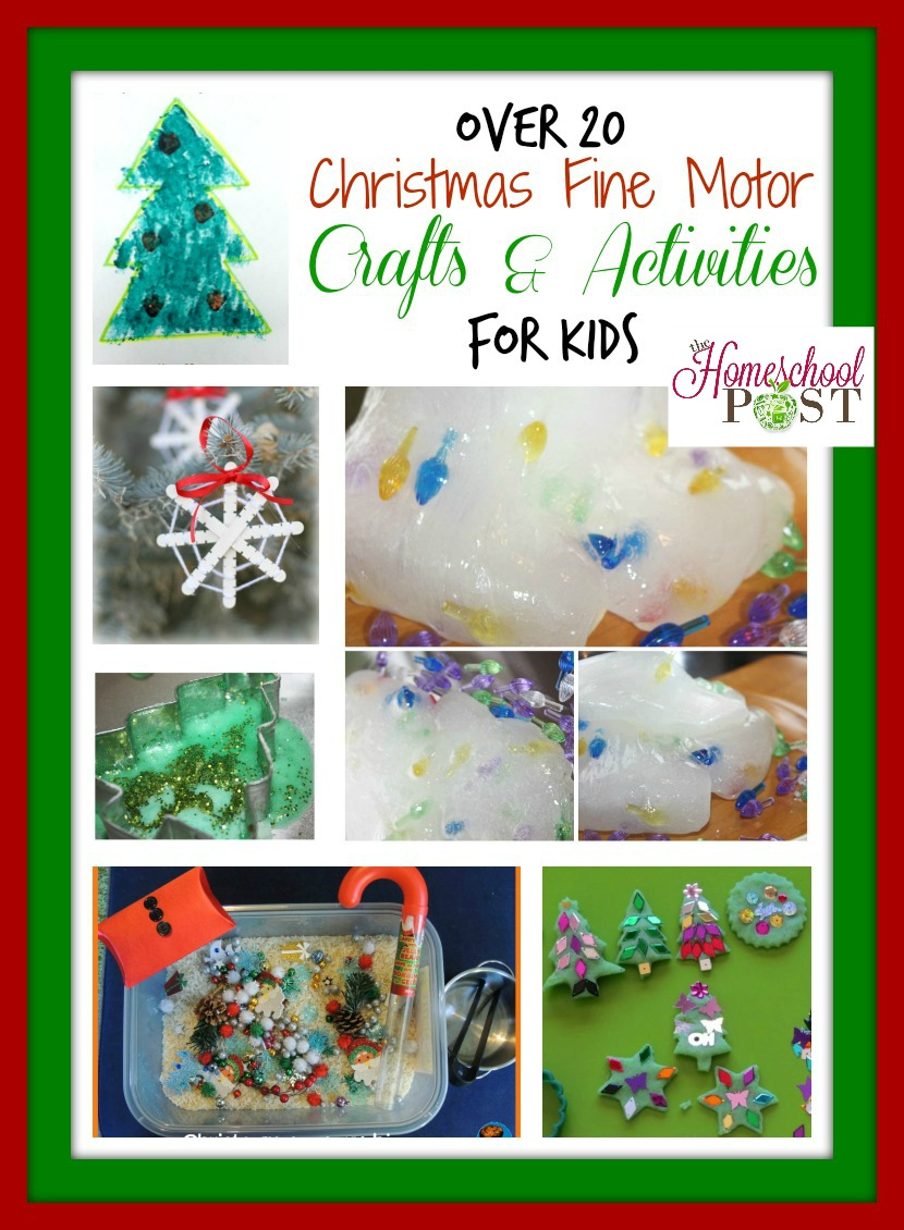 christmas fine motor crafts and sensory play activities the homeschool post. Black Bedroom Furniture Sets. Home Design Ideas