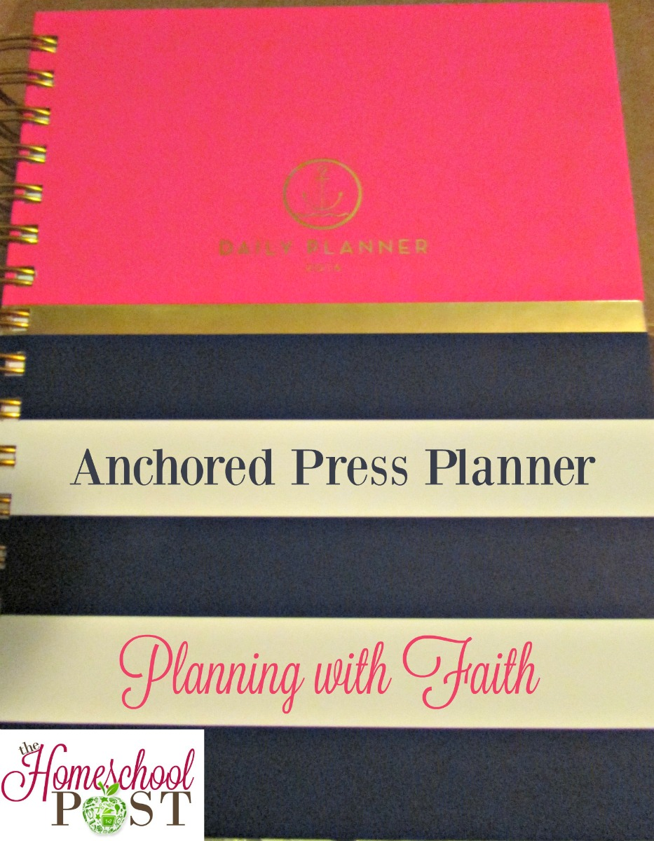 Read a review of the Anchored Press Planner. Includes Bible verses, prayer request pages, standard calendars, and more. Ideal for Christian moms. hsbapost.com