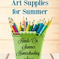If you want to be ready for hands-on homeschooling this summer, check out this list of great must-have art supplies! hsbapost.com