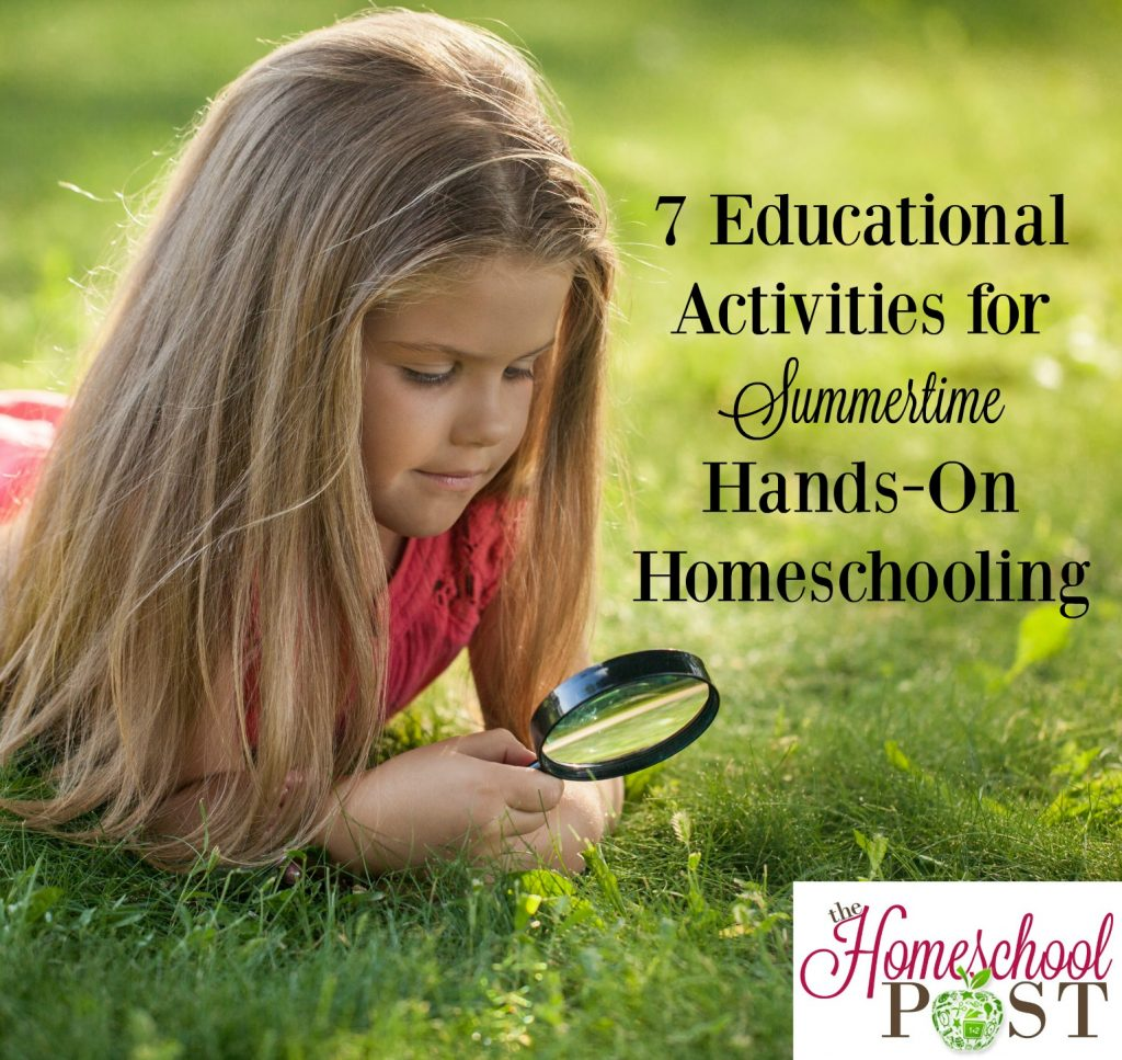 7 ideas for educational activities you can do this summer in your homeschool. Keep the kids learning year-round, but still enjoy the summer! hsbapost.com