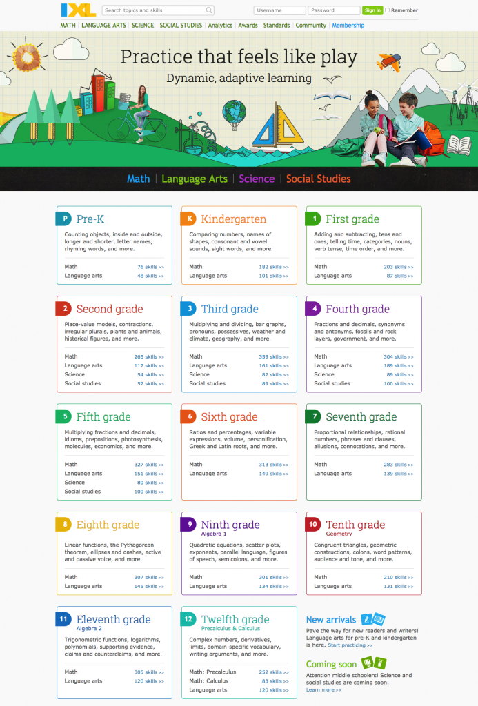 Online Learning with IXL