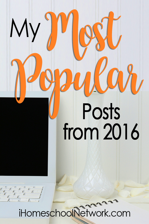 Popular post in 2016 from iHomeschool Network bloggers