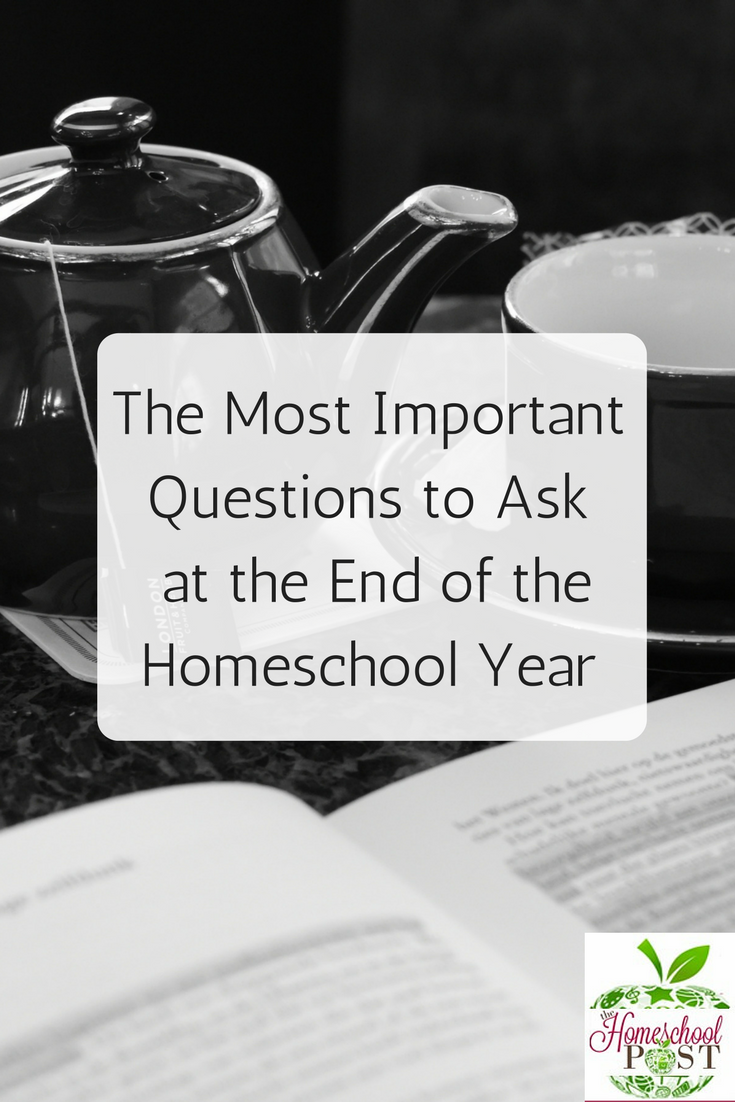 The Most Important Questions to Ask at the End of the Homeschool Year with free printable list and notebooking pages