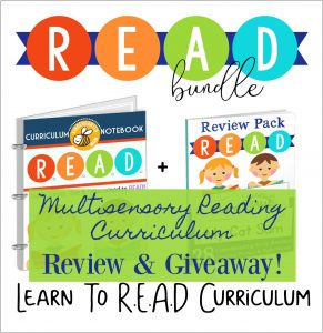 Read the review and enter to win the Learn to R.E.A.D. curriculum bundle!