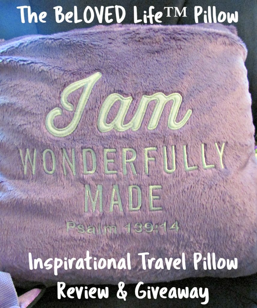 The BeLOVED Life pillow is perfect for tweens and teens to express their faith. Inspirational travel pillow. Review & giveaway
