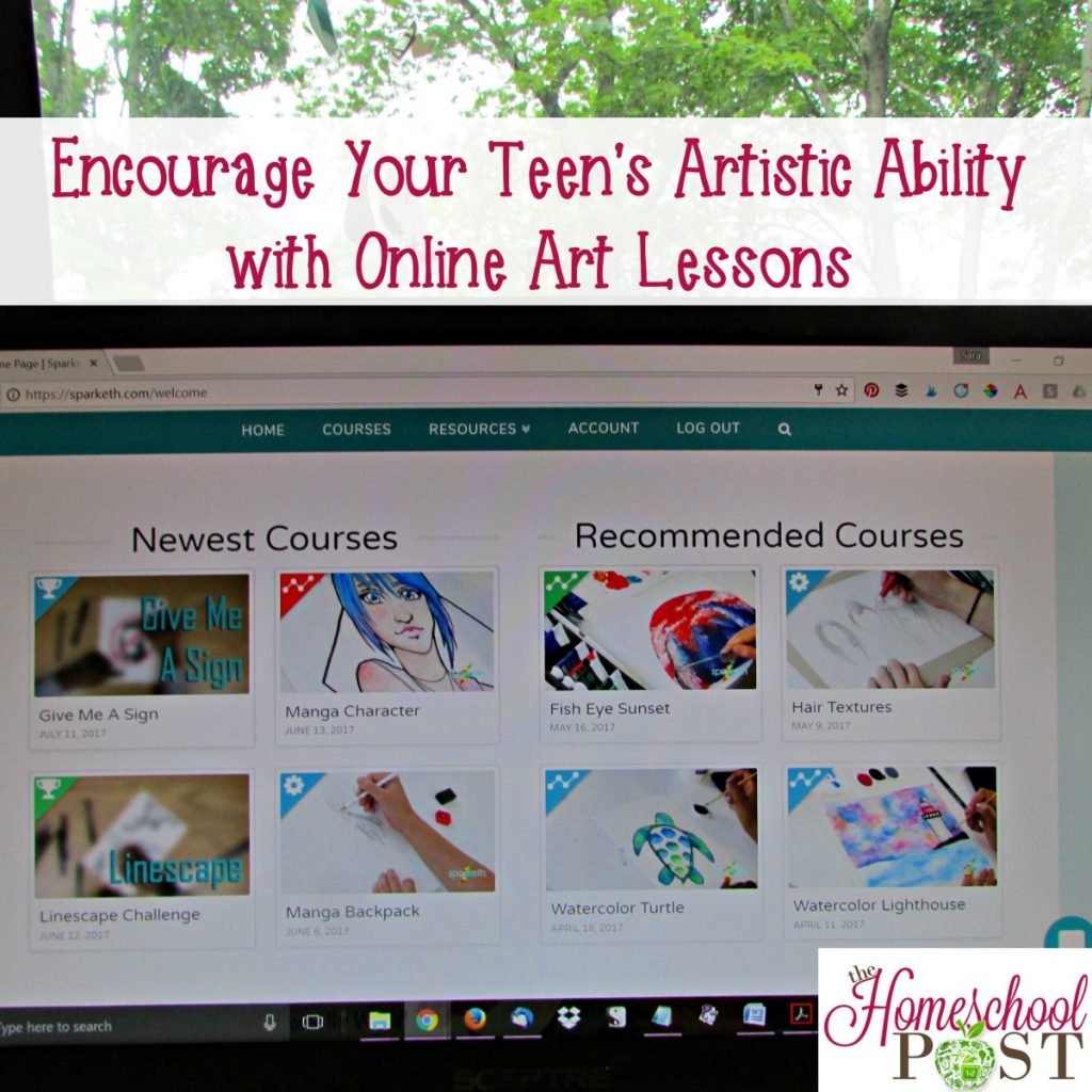 Sparketh Online Art Lessons | homeschool art lessons | Sparketh art for kids and teens
