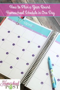 How to plan your year round homeschool in one day   homeschool planning tips   thorough and helpful ideas for homeschool planning