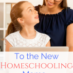 To the new homeschooling mama