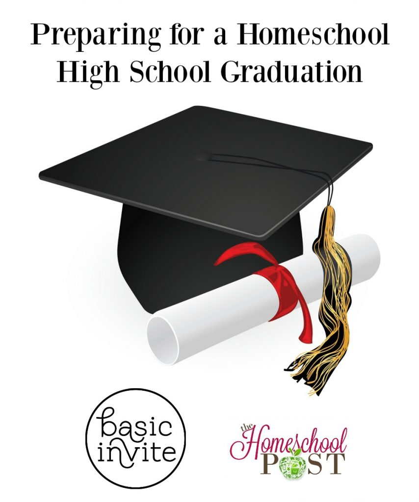 How to prepare for a high schoool homeschool graduation. Ordering graduation announcements. Homeschool high school graduation. Ideas to prepare for graduation. Review of Basic Invited graduation announcements.