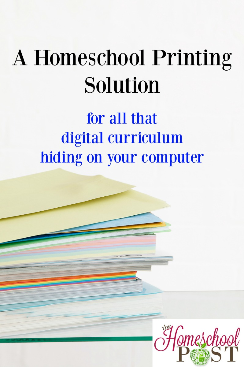 Have a lot of digital homeschool curriculum hiding on your computer and going to waste? Try this homeschool printing solution!