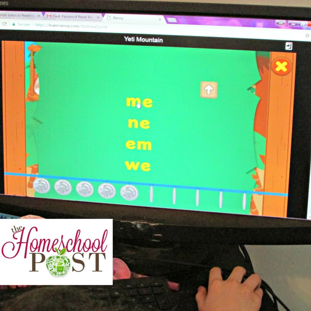 Nessy Yeti Mountain | Nessy Reading and Spelling | homeschool review