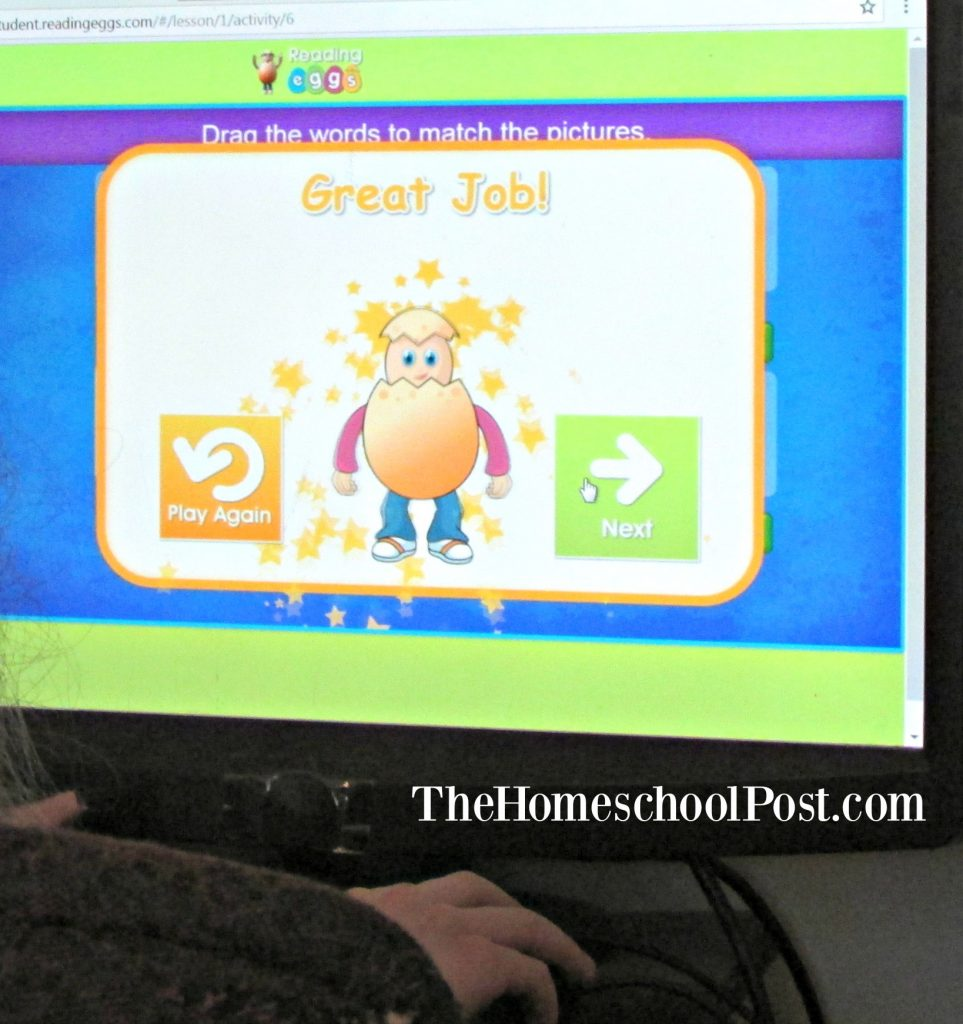 Reading Eggs online reading games incentives