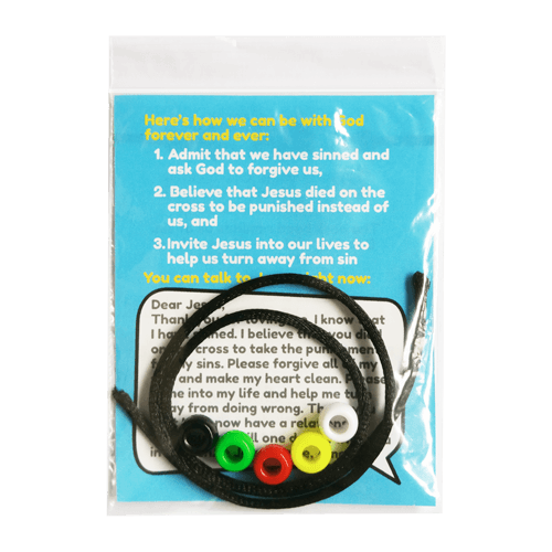 wordless bracelet child evangelism tool