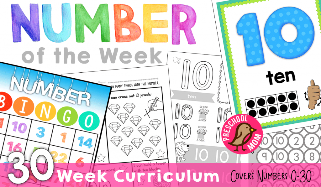 Number of the Week preschool curriculum | homeschooling